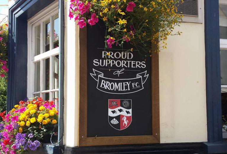 The Bricklayers Arms Bromley - Bromley FC Wall Sign